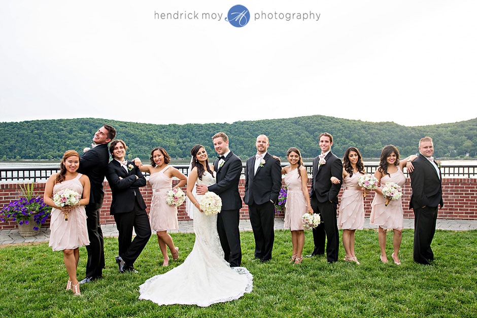 wedding party photography poughkeepsie grandview hudson valley ny