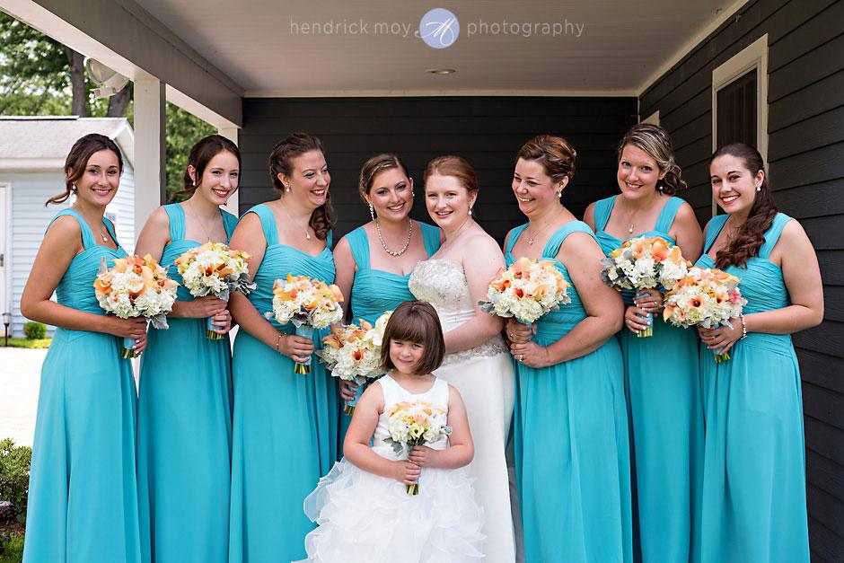 wedding portraits bridal party ny photography hendrick moy
