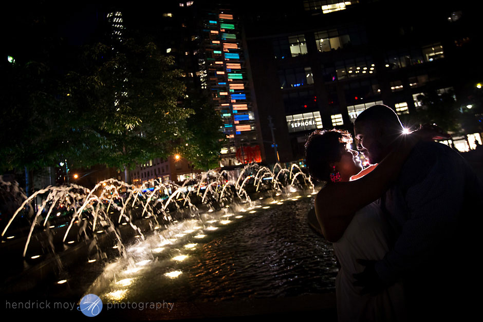 pictures engagement columbus circle nyc