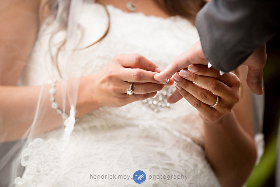 mountain view manor wedding ceremony rings