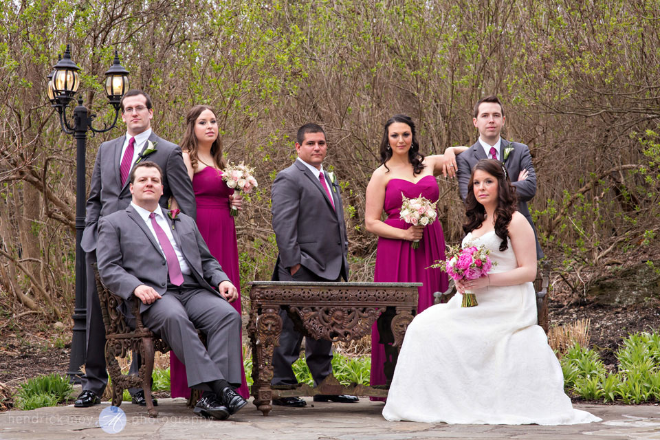 wedding party photography hudson valley ny