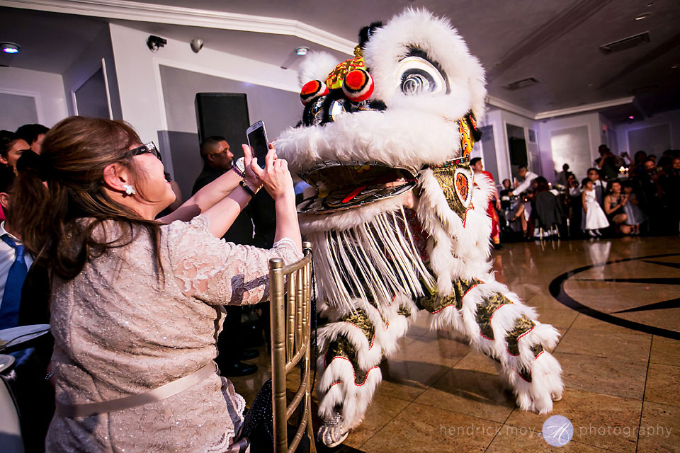 wedding traditional lion dance waterside restaurant catering nj