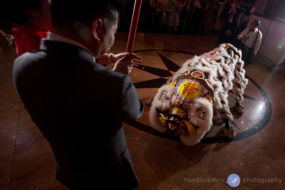 traditional chinese lion dance wedding