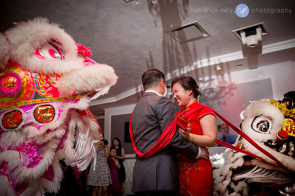 waterside catering traditional chinese lion dance wedding