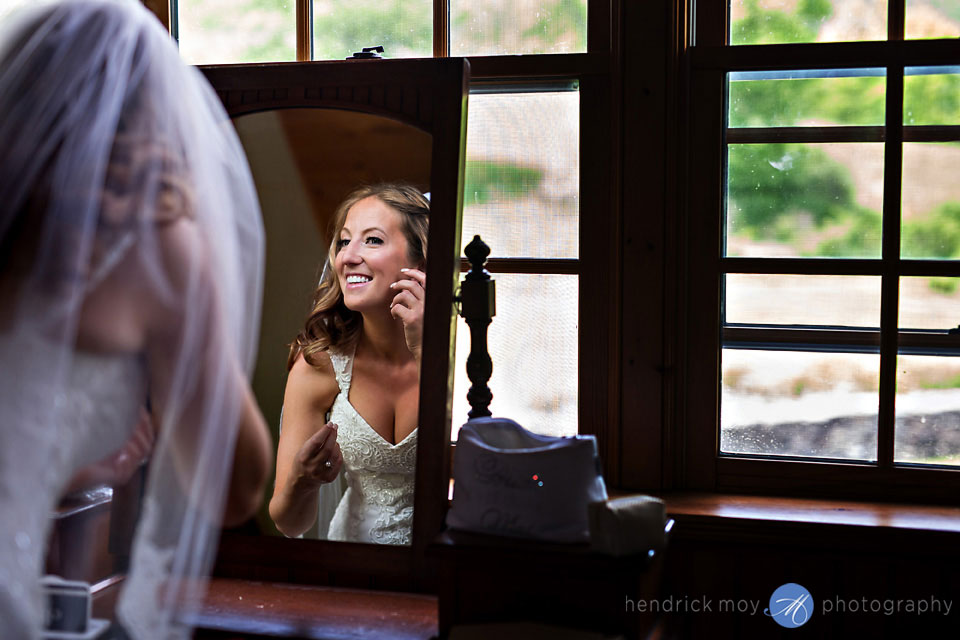 bride getting ready roxbury ny inn at west settlement