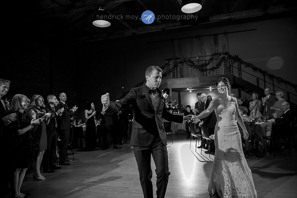 wedding photographer beacon ny roundhouse reception grand entrance
