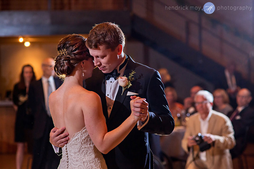 wedding photographer beacon ny roundhouse first dance