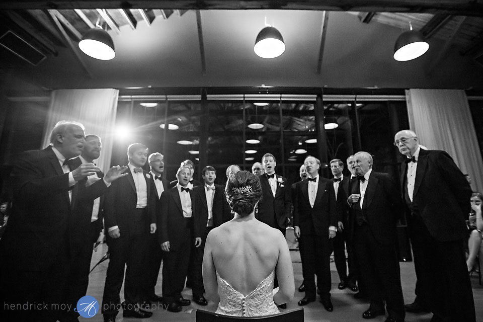 fearless wedding photographer beacon ny roundhouse acapella singing bride