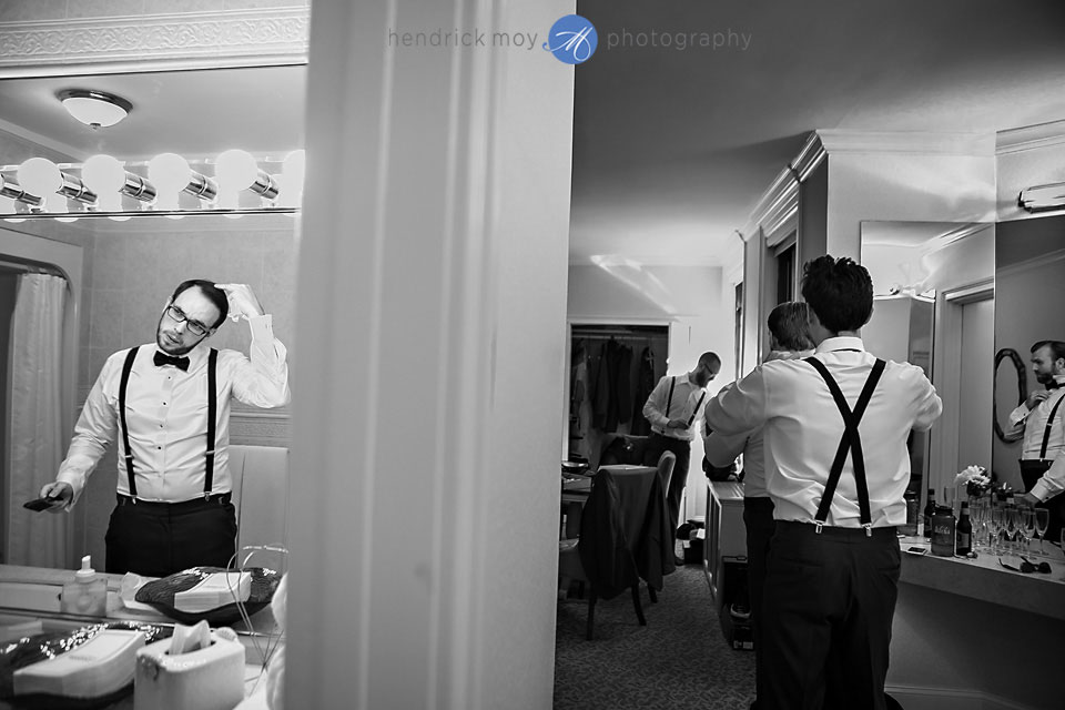 groom getting ready paramount country club ny wedding pictures