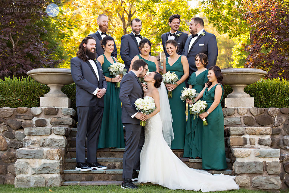 bridal party paramount country club wedding photographers
