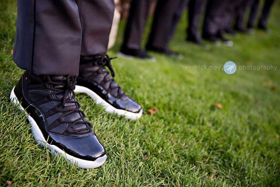 groomsmen shoes jordans wedding paramount country club photography