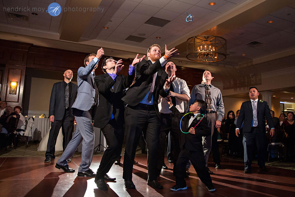garter toss wedding paramount country club
