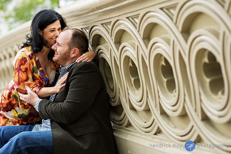 bow bridge engagement photography central park