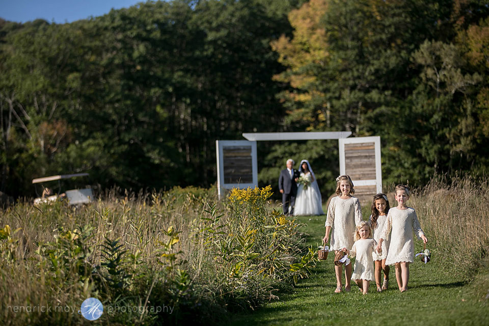 stone tavern farm outdoor wedding ceremony