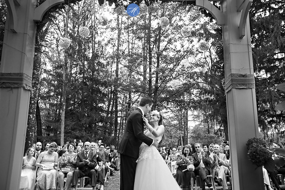 first kiss mountain springs resort wedding