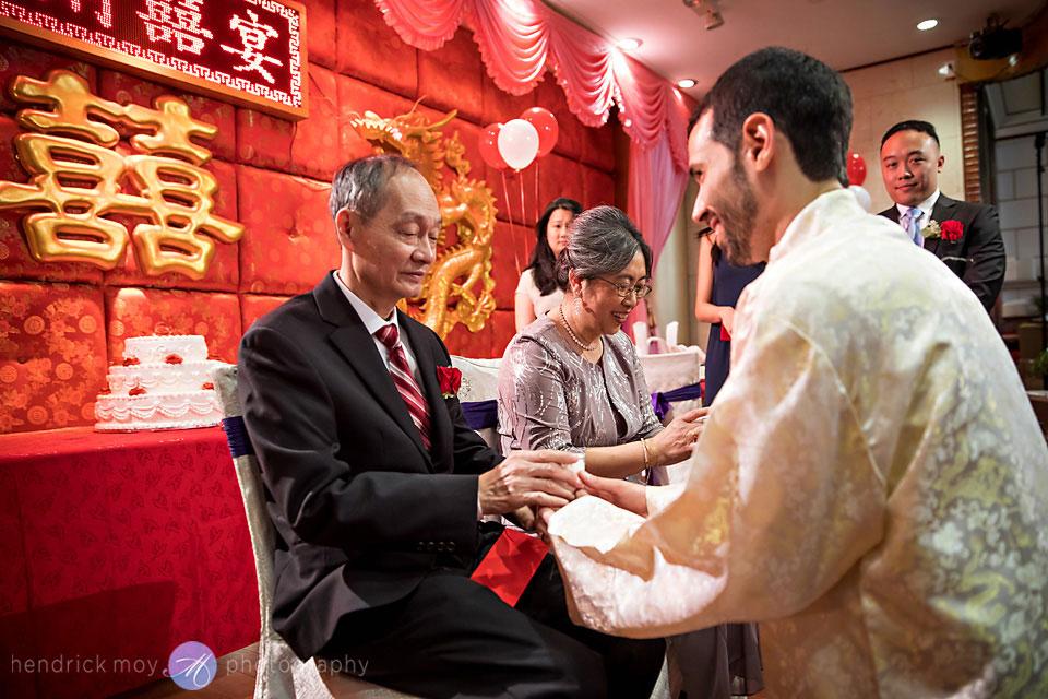 tea ceremony wedding photographer new lake pavilion