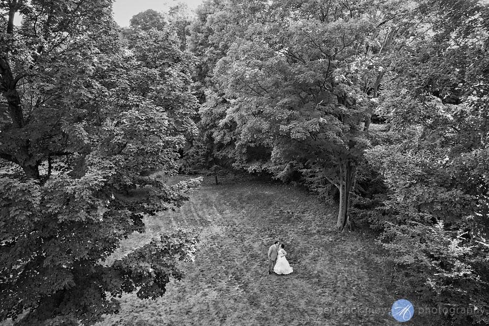 wedding drone photography hudson valley ny